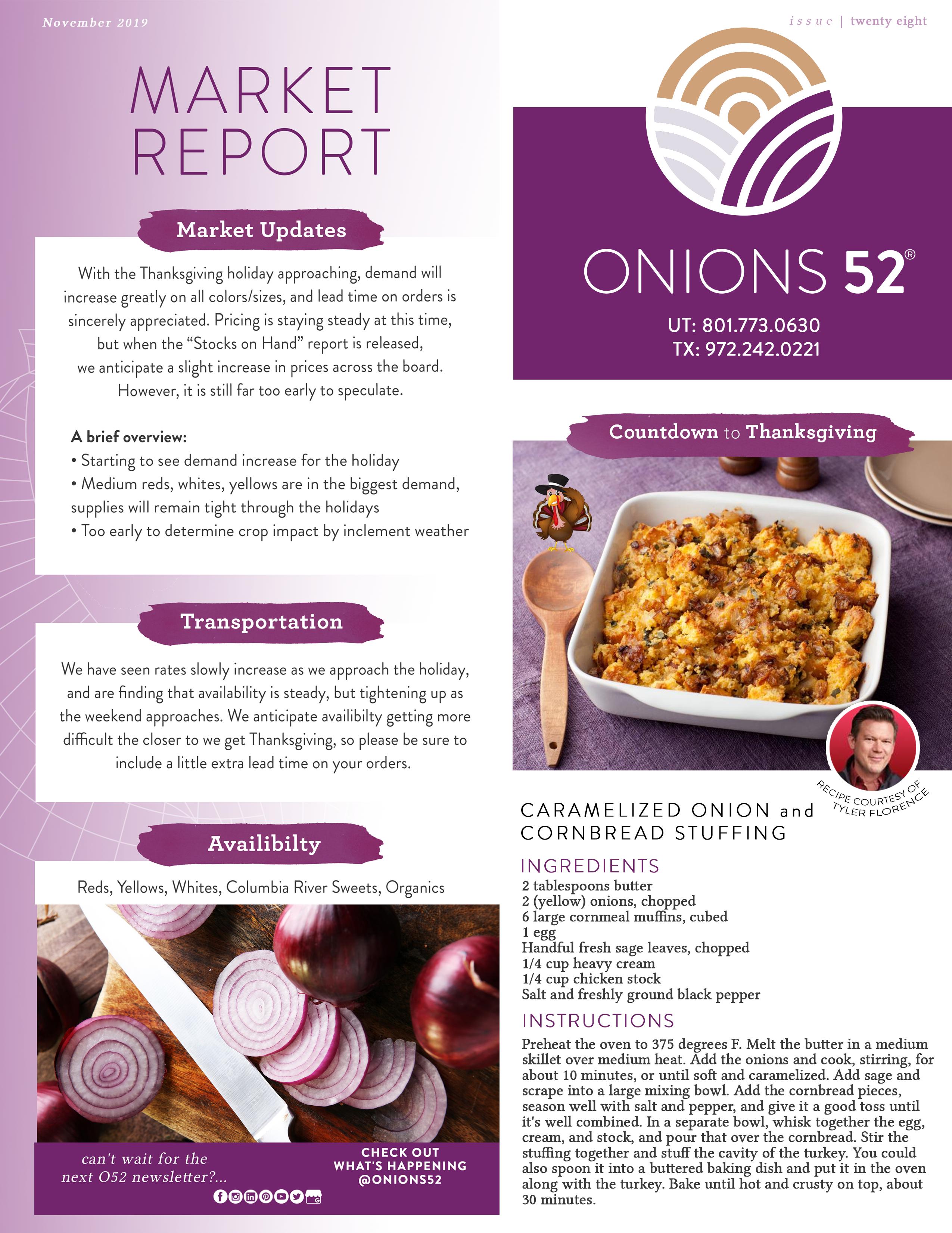 Onions 52 November 15 Newsletter