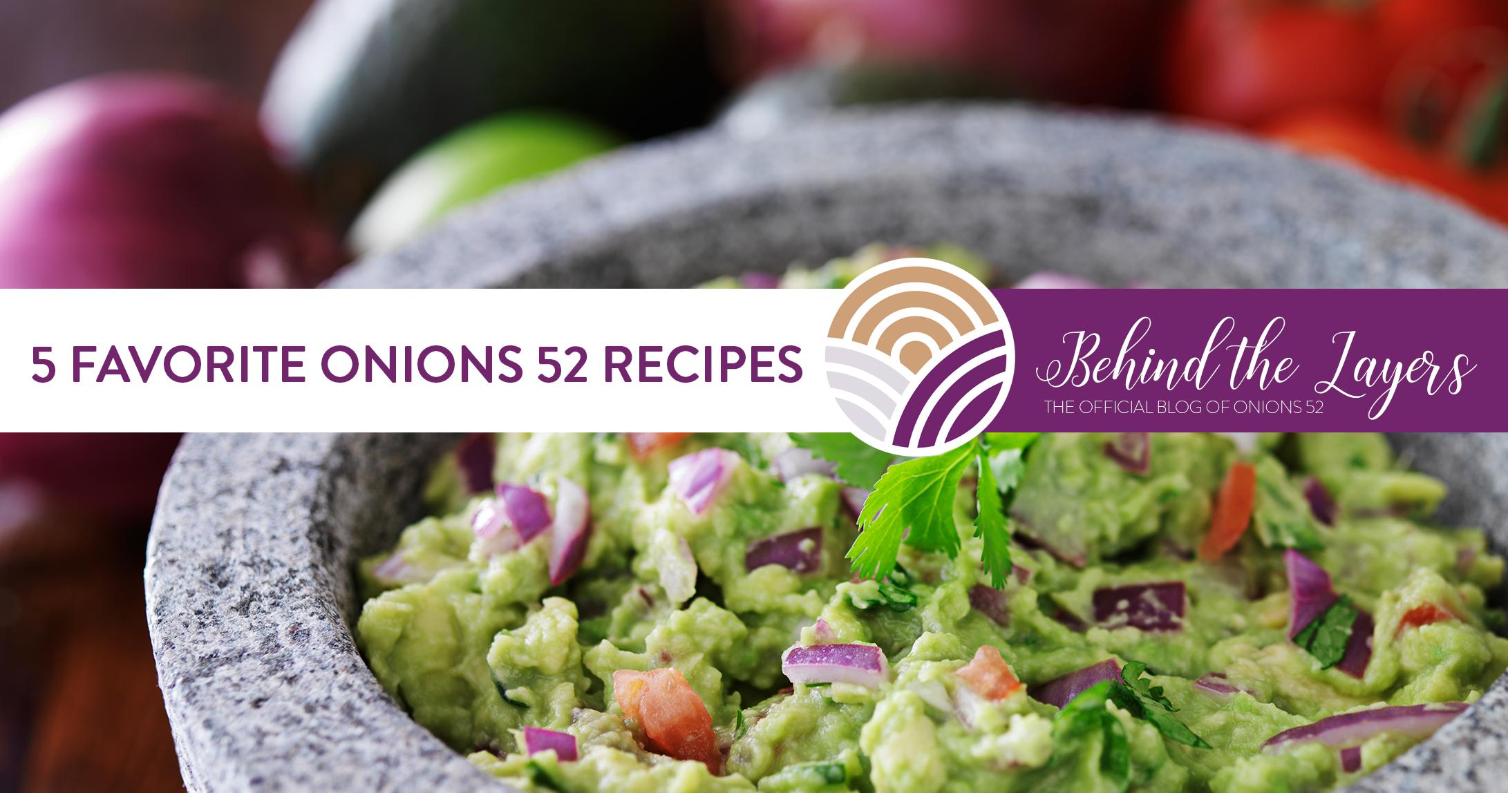 5 Favorite Onions 52 Recipes