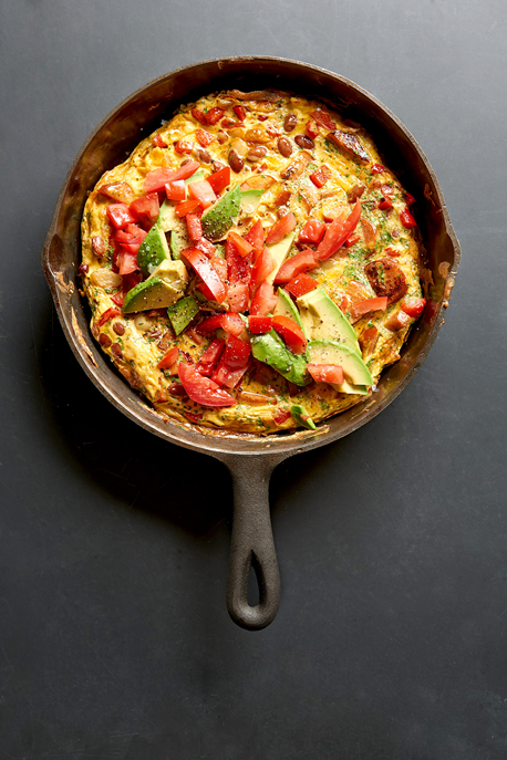 southwestern-bean-and-andouille-frittata