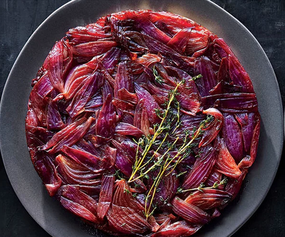 Balsamic Onion and Thyme Tartin