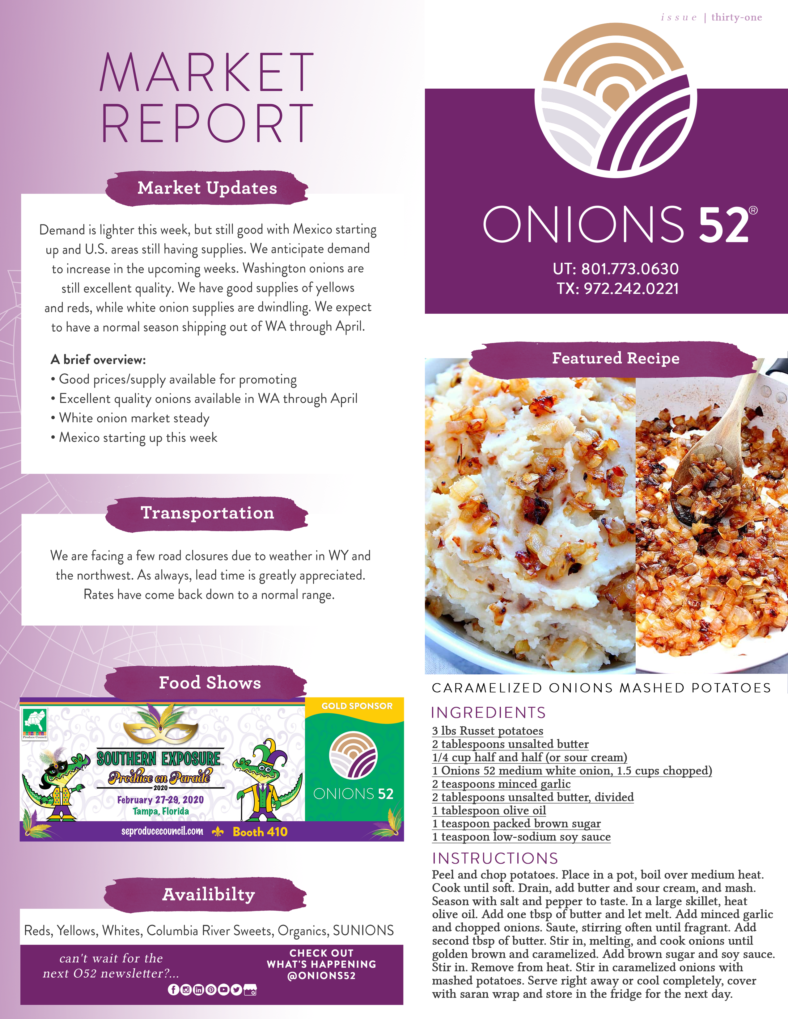Onions 52 Issue 31 Crop Report Newsletter