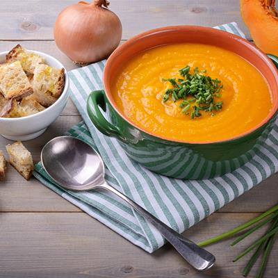 Pumpkin onion soup